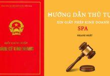 giấy phép kinh doanh SPA