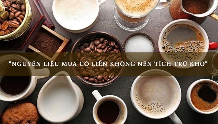 vốn nhập nguyên liệu quán cafe