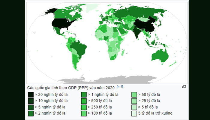 gdp ppp thế giới 2020