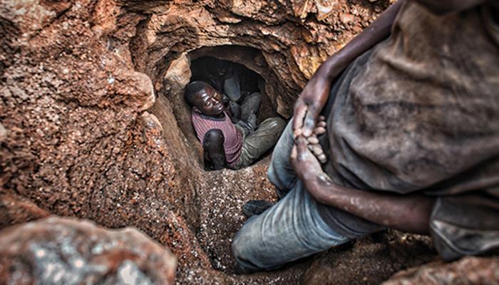 khai thác mỏ châu phi