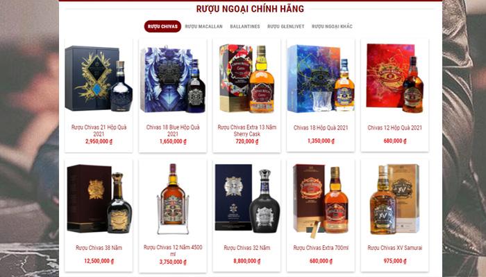 rượu ngoại nhập khẩu chính hãng