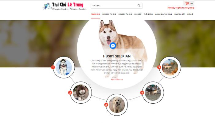 Cửa hàng chó Lê Trung Gò Vấp