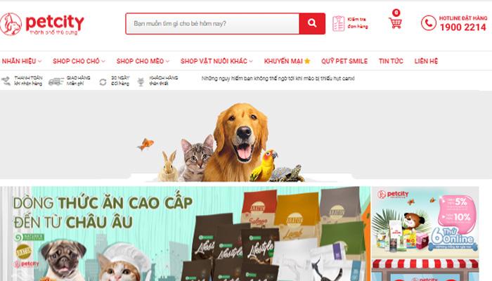 Cửa hàng thú Pet City Hà Nội
