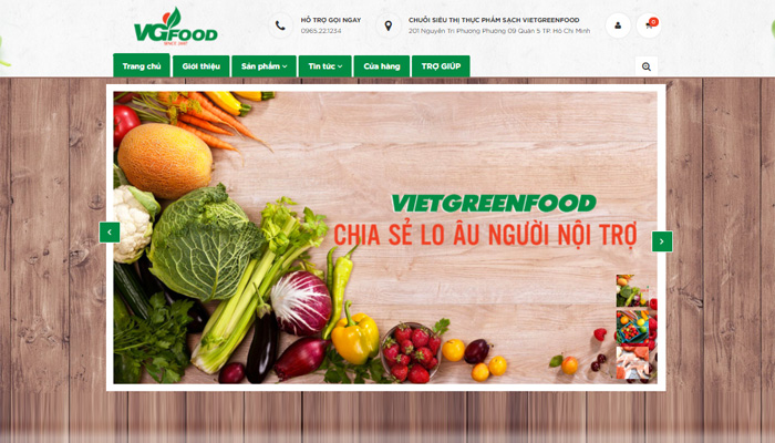 cửa hàng organic VGFood