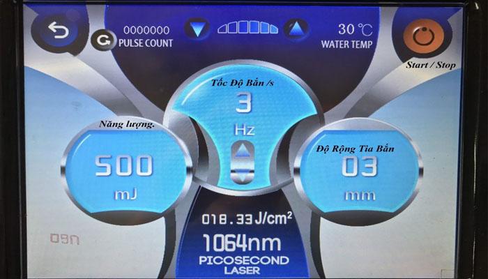 Giao diện máy Laser Toning 2020