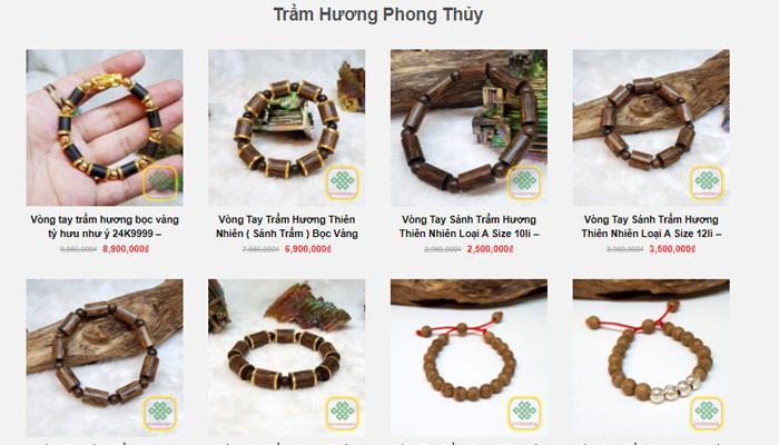 sản phẩm cửa hàng Cát Tường Phong Thủy
