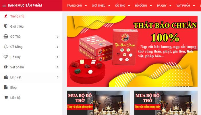 Sản phẩm cửa hàng Linh Phẩm Phong Thủy