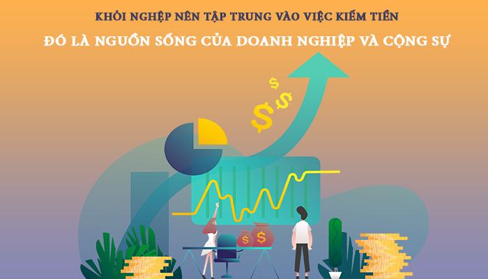 tiền là nguồn sống của doanh nghiệp trẻ