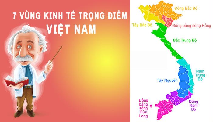 7 vùng kinh tế trọng điểm của Việt Nam