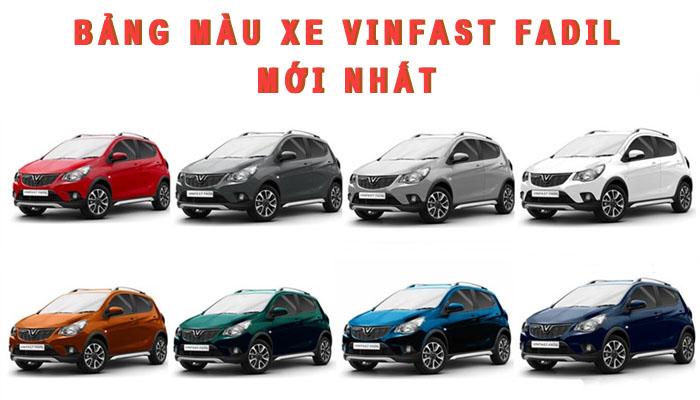 Bảng màu xe Vinfast Fadil mới nhất