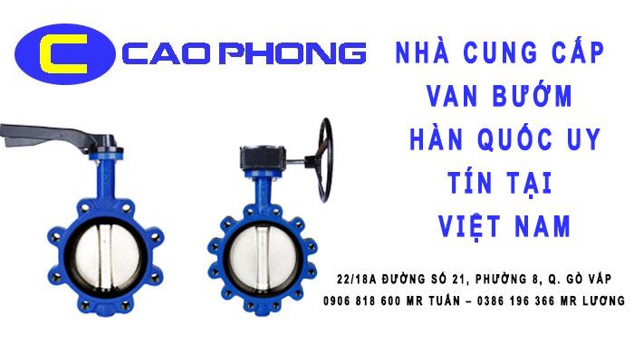 Nhà cung cấp van bướm Hàn Quốc uy tín tại Việt Nam