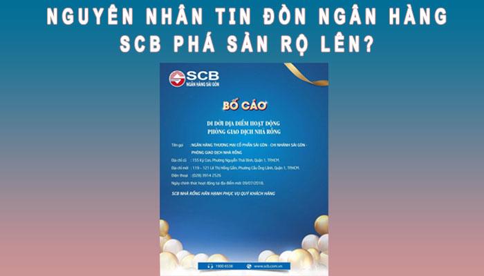Nguyên nhân ngân hàng SCB phá sản