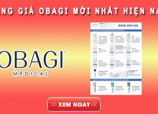 Bảng giá Obagi mới nhất hiện nay