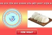 Bảng giá yến sào Khánh Hòa mới nhất hiện nay