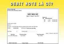 Debit Note là gì?