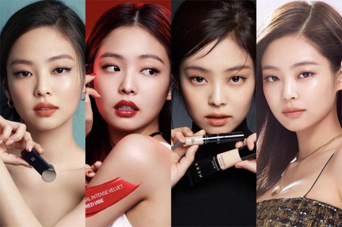 Jennie quảng cáo mỹ phẩm